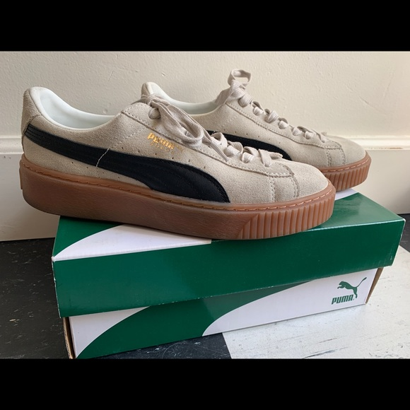 a3900e4b584 Puma Womens Suede Platform Core Sneakers. Listing Price   50. Your Offer